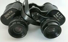 Vintage Zenith Binoculars Coated Optics 8 x 30 Field 7.5 Lkajc No - 2887