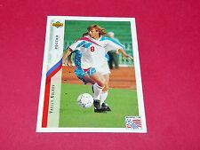 VASILY KULKOV RUSSIE FIFA WC FOOTBALL CARD UPPER USA 94 PANINI 1994 WM94