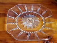 """Federal Glass Ohio Columbia Clear 9"""" Luncheon Plate"""