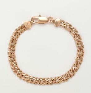 """9ct 9k Yellow """"Gold Filled"""" Bismark Link 6.5mm Bracelet  7"""",7.6"""", 8"""", 8.6"""", Gift"""