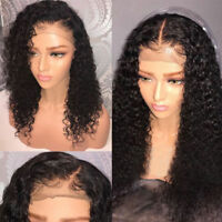 Elva hair  US Pre Plucked Black Human Hair Lace Front Wig Full Wigs Deep curly