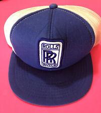 Rolls Royce Vintage Snapback Mesh Trucker Hat Made In U.S.A.
