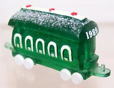 1989 Hallmark New Christmas Train Car Green Merry Miniature Never Used Qfm1562