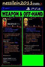 Diablo 3 RoS Ps4 - Totenbeschwörer/Necromancer -  2 Waffen - MODDED