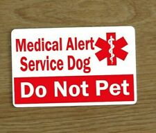 Medical Alert Service Dog Card, Assistance Dog Card,  Awareness Medical Card