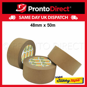 Brown Kraft Paper Packaging Parcel Tape Eco Friendly Biodegradable Recyclable50m