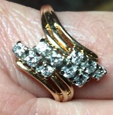 💗Diamond 'Right Hand' Dinner Ring💗50-60/100 Points, Size 10💗Solid 14-k Gold