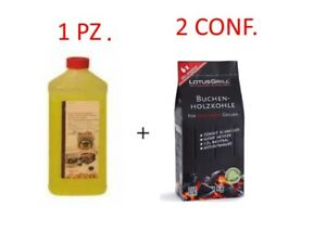 Carbone Lotusgrill 1 GEL 1Lt. + 2 CARBONE CARBONELLA 1Kg LOTUS GRILL LOTUSGRILL