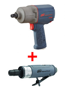Ingersoll Rand 2235TiMAX 1/2 Impact Wrench & FREE 308B 1/4 Straight Die Grinder