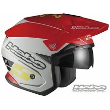 HEBO 2016 CASCO HELMET ZONE 5 ROSSO BIANCO RED MOTO TRIAL SCOOTER JET TG M