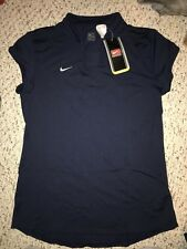NWT Nike Dri Fit Womens Navy Cap Sleeve Volleyball Jersey *L*