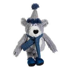 House of Paws Christmas Winter Teal Polar Bear Dog Toy   Small Medium Tweed Xmas