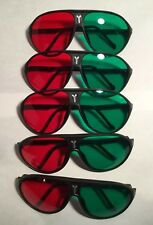 5 - Pair Red Green 3D Glasses For Dimensional Anaglyph DVD Movie Game TV New