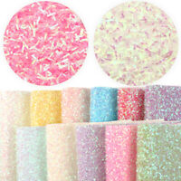 20*34 cm Solid Color Tinsel Synthetic Leather  For Handmade Craft Making