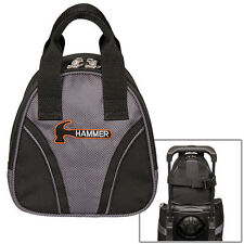 Hammer 1 Ball Add On Plus One Bowling Bag Black Carbon FAST SHIPPING