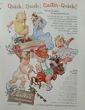 1954 Carter's girls boys Toddlertown Firehouse underwear pajamas vintage ad
