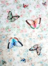 Rice Paper for Decoupage, Scrapbooking, Sheet Craft Vintage Colorful Butterflie