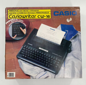 CASIOWRITER CW-16 PERSONAL ELECTRONIC TYPEWRITER COMPLETE NEW IN OPEN BOX