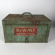 Vintage Dewalt Tool Box 18x115x10 With Accessories Original Case Saw Drill