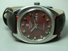 Vintage Favre Leuba Auto Duomatic Day Date MENS WATCH B241 old used Antique