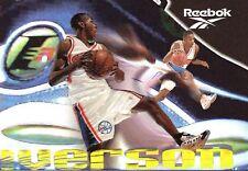 1997-98 Skybox PREMIUM ALLEN IVERSON REEBOK SHOE Bronze
