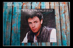 GFA Livin in Oz RICK SPRINGFIELD Signed Used Record Album COA