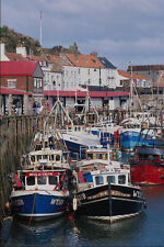 794082 Fishing Boats In Whitby Harbor North Yorkshire England A4 Photo Print
