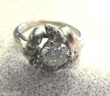 Antique Estate 14k White Gold  Diamond Ring  High Quality size 5-1/2  Make Offer