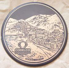 Chile Metal Plate Mining Copper Sewell Codelco Produciendo Futuro