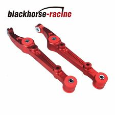 ALUMINUM RED FRONT LOWER CONTROL ARM/BAR/ROD+BUSHING FOR CIVIC/EG/EH/INTEGRA