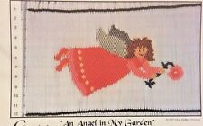 Cherished Stitches Smocking Plate-An Angel In My Garden