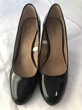 Merona Women's sz 9 Black Faux Patent Leather High Heel Work Dress Pumps career