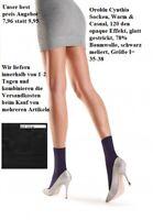 Oroblu Cynthia Socken glatt gestrickt, 120 denier, schwarz meliert, I=35-38