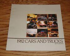 Original 1982 Toyota Car & Truck Full Line Sales Brochure 82 Land Cruiser
