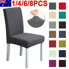 1-8PCS Stretch Chair Cover Washable Removable Slipcover Banquet Furniture Covers
