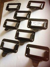 8 etichetta Holder maniglia in metallo cassetto manopola Pull, VINTAGE merceria, negozio di file di disegno