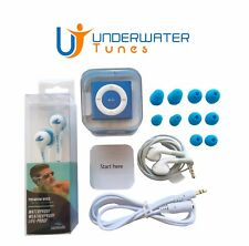100% Brand New Swim iPod Shuffle MP3 Player, Headhones, Blue Waterproof Bundle