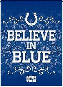 Indianapolis Colts Rico Premium 2-sided GARDEN Flag Outdoor Banner Football
