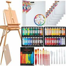 76 Pcs Acrylic Painting Set with French Style Easel, 48-Color Acrylic Paint Set