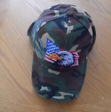 EAGLE GREEN CAMOUFLAGE USA EMBROIDERY HAT   CAP VISOR COTTON ADJUSTABLE