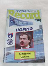 1991 AFL Football Record Richmond Tigers v Carlton Blues Vol.80 No.24