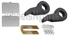 "Lift Kit Chevy Black Torsion Keys 4"" Aluminum Blocks 1988 - 98 6 Lug Truck & SUV"