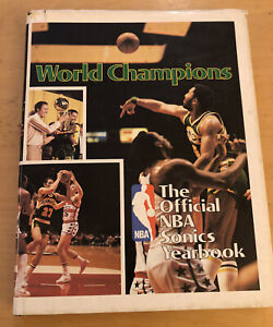 Official NBA Seattle Sonics Yearbook 1978-1979 World Champions Hardcover HC Book
