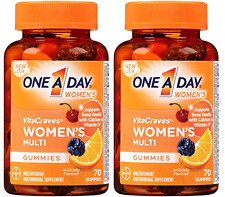 One A Day Women's Vitacraves Gummies, 70 Count (2 Pack)