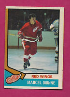 1974-75 OPC # 72  RED WINGS MARCEL DIONNE CARD