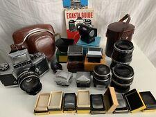 Exakta VX 1000 35mm Camera + Carl Zeiss 35mm F2.8, 50mm F2, 135mm F4,Accessories