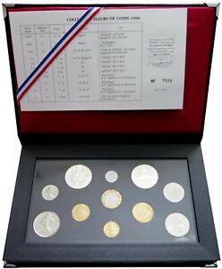 F5000.50 - COFFRET FLEURS DE COINS - FRANCS - 1990 - 1 centime à 100 francs RARE