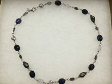 Silpada - .925 Sterling Silver Necklace N1308 Blue Lace Chalcedony &various stns