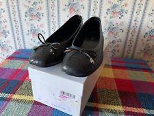 Cellini Leather Shoes  Black Leather Croc  Size 40 Euro