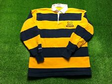 New listing Vintage Rugby Wear Barbarian Michigan Wolverines Men's Long Sleeve Polo Sz Large